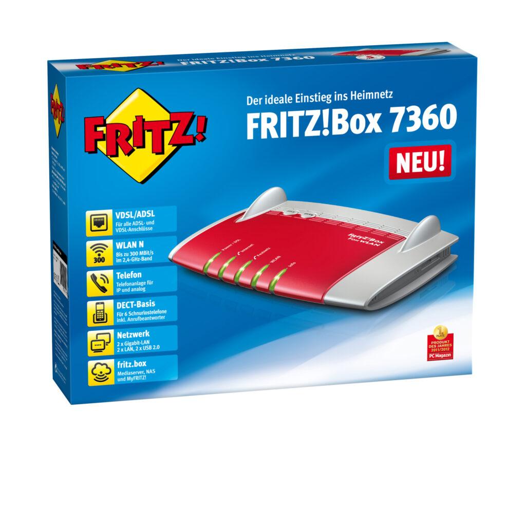 AVM FRITZ!Box 7360 DE Verpackung rechts