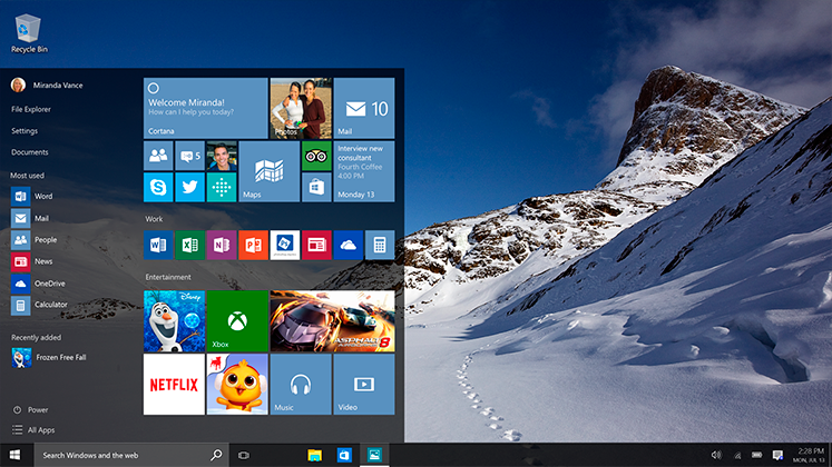 windows 10--