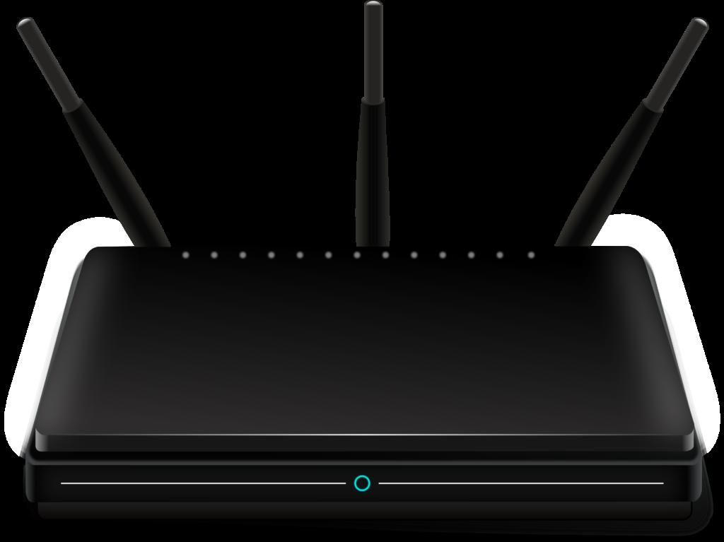 Router schwarz